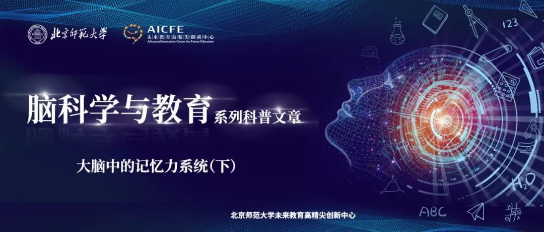 脑科学与教育蓝皮书:大脑中的记忆力系统(下)